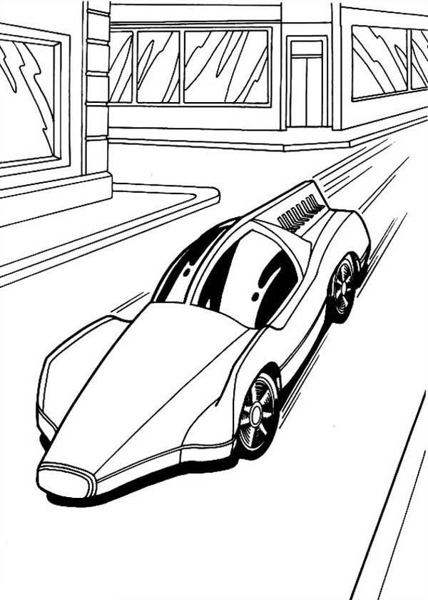 Hot Wheels Solar Car Coloring Page - NetArt