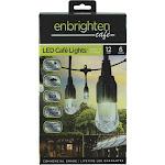 Enbrighten 12 Ft. 6-Light Warm White Clear Bulb Cafe String Lights 31660999