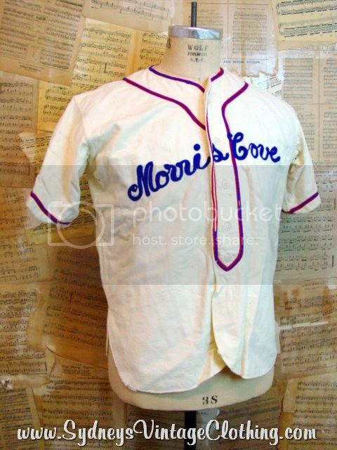 40's Baseball Uniform | Malzone Sports | SydneysVintageClothing