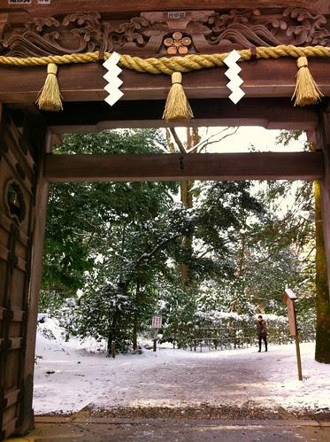 At the back exit of Oyama Shrine