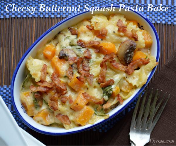 Cheesy Butternut Squash Pasta Bake3