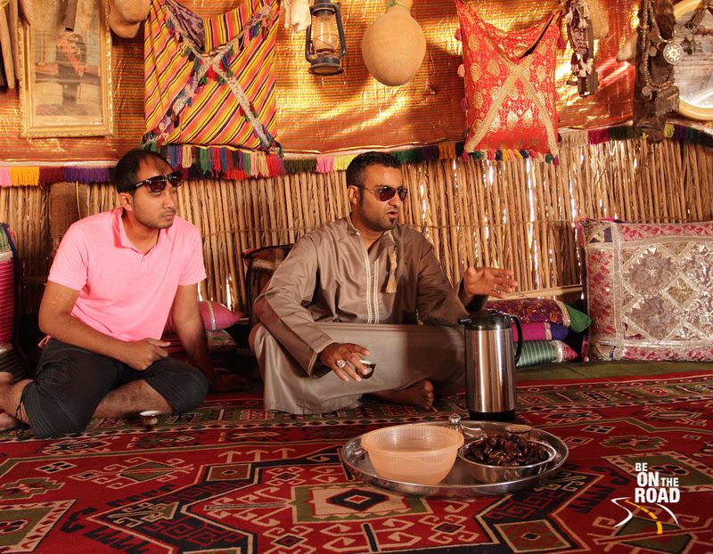 Inside a traditional Bedouin Tribal House at Wahiba Sands, Oman