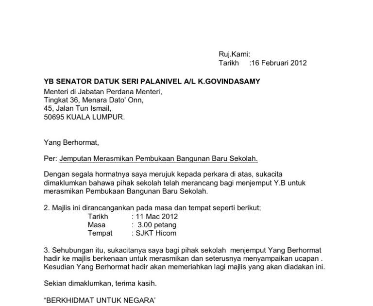 Contoh Surat Jemputan Jemput Ppd Ke Majlis Persaraan