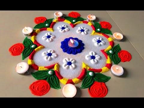 Diwali Beautiful Rangoli Designs/चूड़ी से रंगोली बनाये | Colourful New Ra...