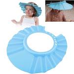 Zodaca Baby Kid Children Soft Shampoo Bath Shower Cap Hat Eva Foam (Adjustable: 37-41 cm) - Blue