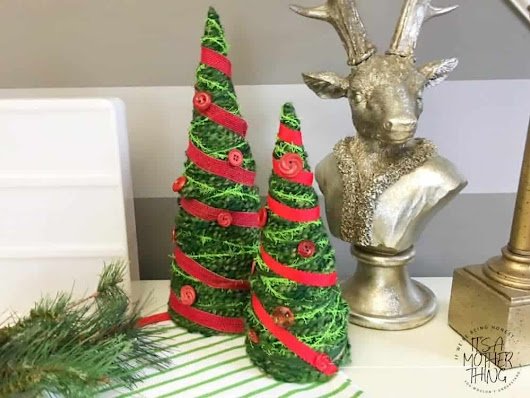Yarn-Wrapped Christmas Tree Craft