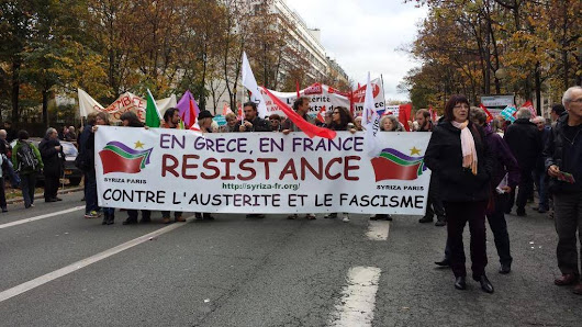 APPEL DE SYRIZA-PARIS TOU(TE)S A LA MANIFESTATION SYNDICALE DU 9 AVRIL