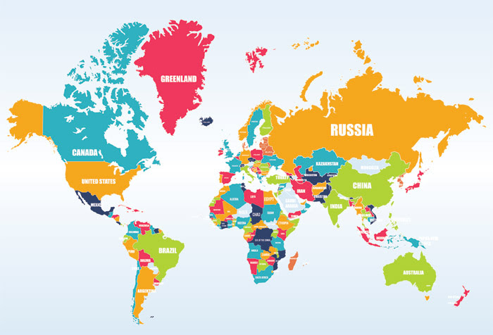 world map countries zoom 1