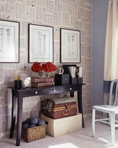 7 Easy Ways To Use Books In Your Décor: Best Wallpaper Ideas: How To: Make A Dictionary (etc) Wall
