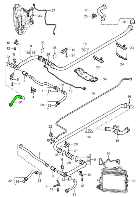 Buy Porsche Boxster 986/987/981 Water / Coolant Hoses