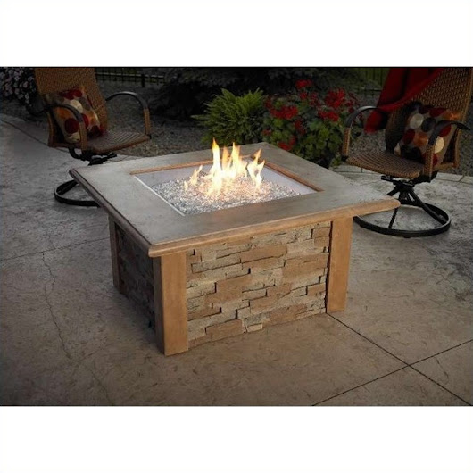 Outdoor GreatRoom Company Sierra Firepit Table in Mocha
