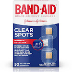 Band-Aid Clear Spots Brand Adhesive Bandages 50 Count