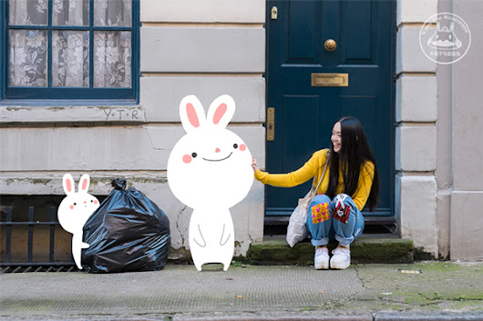 Illustrator Interacts With Adorable Cartoon Characters On City Streets - DesignTAXI.com