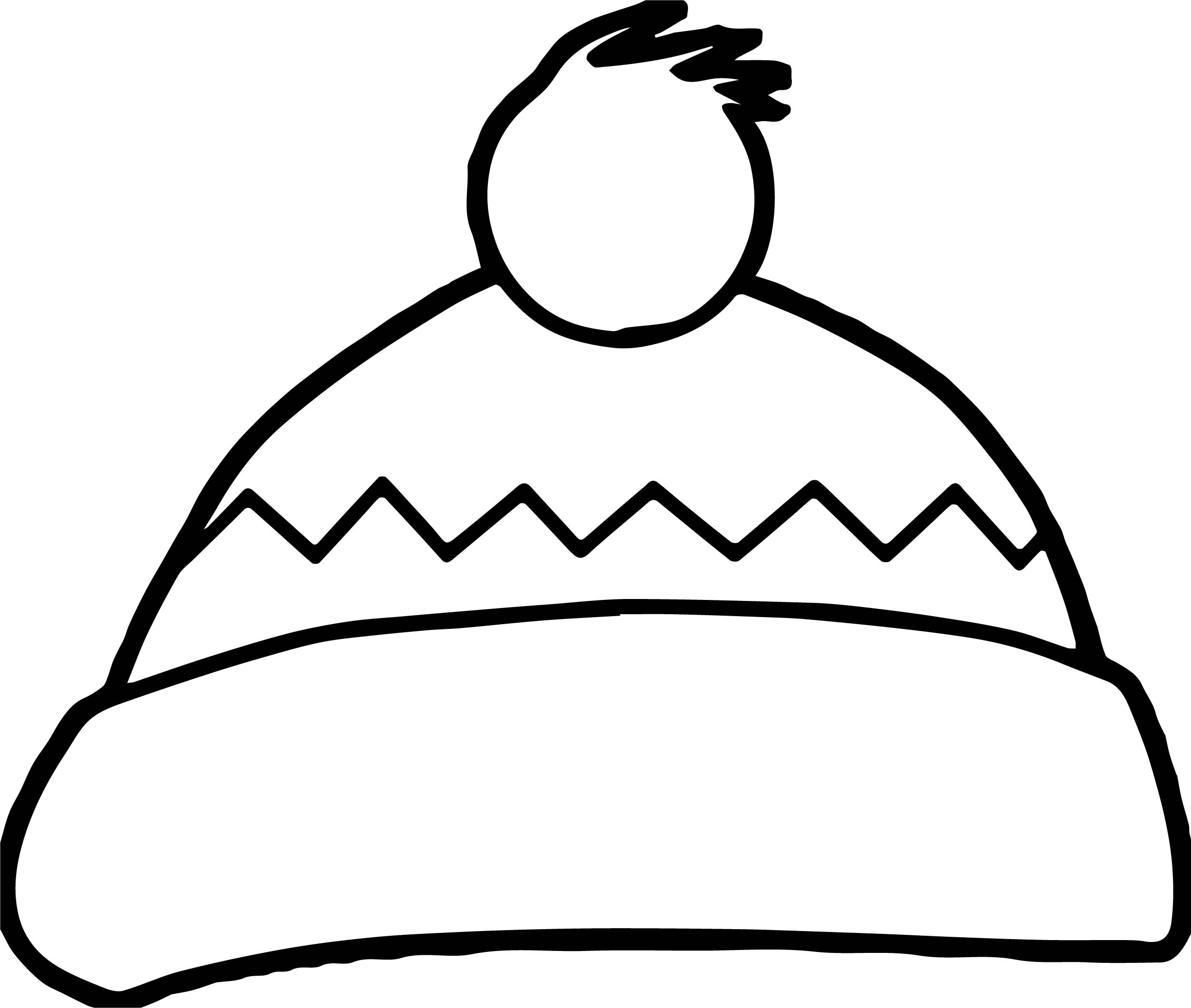 Winter Hat Coloring Page Wecoloringpage Com