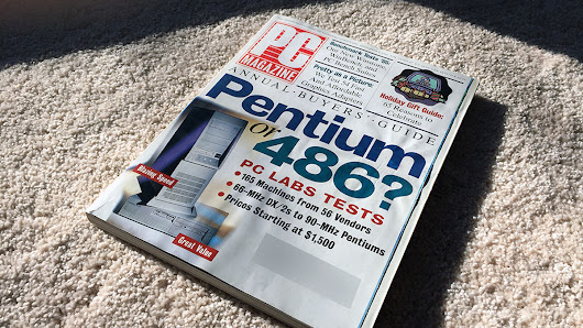 Home for the holidays, and for a 20-year-old issue of PC Magazine