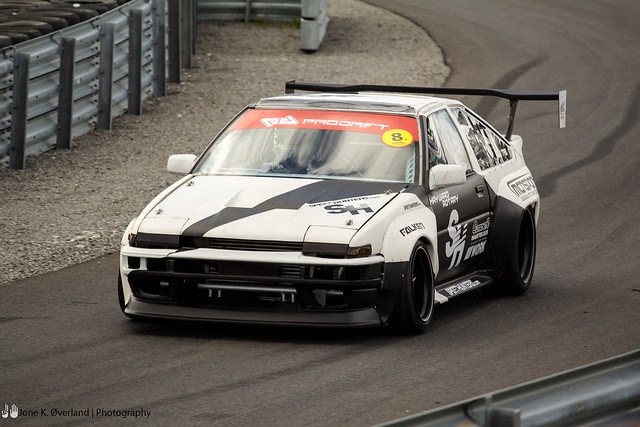Darren McNamara in his AE86
