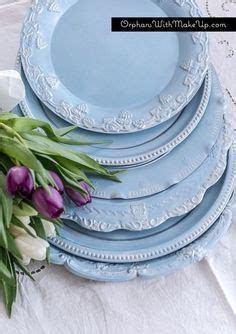 diy plate chargers by painting silver trays from thrift