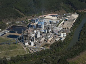 Acidente foi na fábrica da Fibria em Jacareí (Foto: Doivulgação/Fibria)