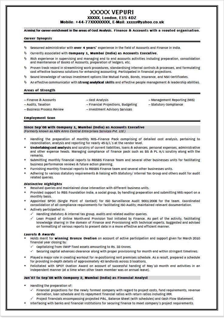 resume format  bpo jobs resume format for freshers