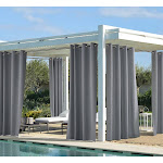 Outdoor Decor Costal Solid Grommet Panel, Size: 50 x 84, Gray