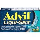 Advil Liqui-Gels Solubilized Capsules, 200 mg - 80 count