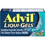 Advil Ibuprofen, Solubilized, 200 mg, Liquid Filled Capsules - 80 capsules