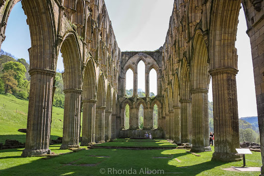 The Picturesque Ruins of Rievaulx Abbey in England's Countryside
