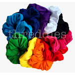 threddies Cotton Scrunchies (Rainbow Assortment), 10 Piece Pack