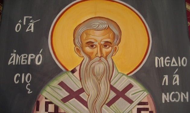 Αποτέλεσμα εικόνας για Άγιος Αμβρόσιος επίσκοπος Μεδιολάνων