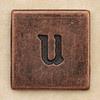 Copper Square Letter u