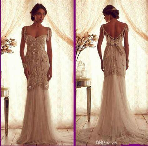 Cheap Ivory Beach Anna Campbell Vintage Wedding Dresses