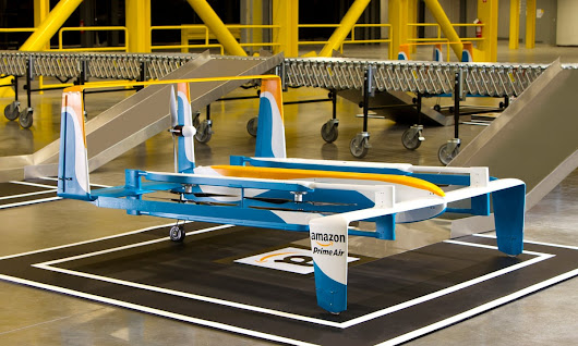 Amazon unveils hybrid drone prototype to make deliveries within 30 minutes | Technology | The Guardian