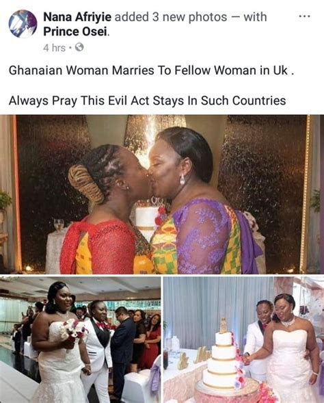 2 Ghanaian Lesbians Wed In Holland, Share A Kiss At