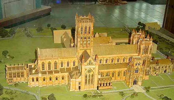 Model of Glastonbury Abbey