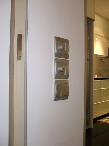 Legrand Switches at Shoe Cabinet