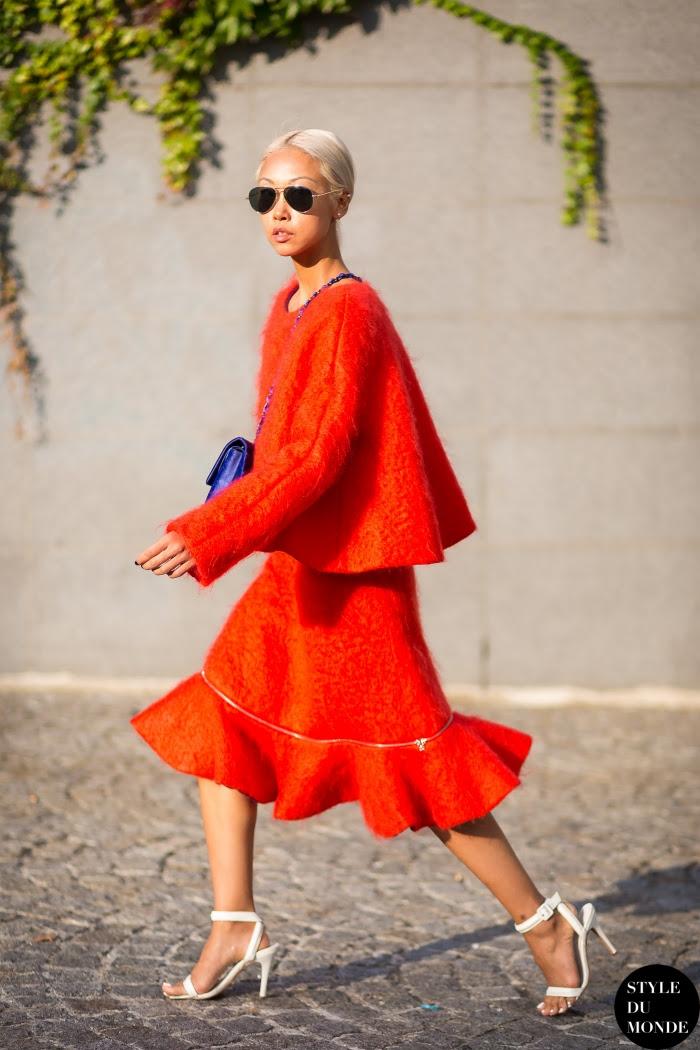 Vanessa Hong Street Style Street Fashion Streetsnaps by STYLEDUMONDE Street Style Fashion Blog