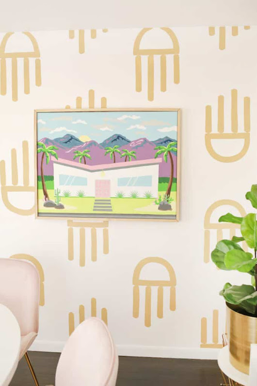 Oversized Palm Springs Paint-By-Numbers DIY! - A Beautiful Mess