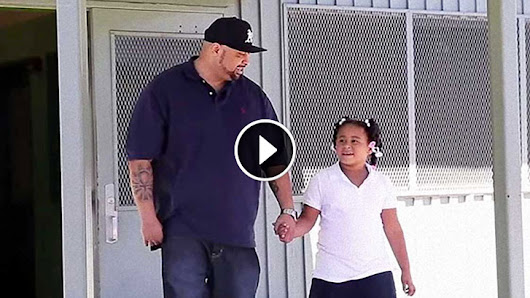 Dad Picks her up from School and Finds Out Shes Been Bullied! Watch What He Does!!!