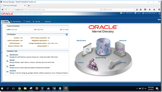 Oracle Internet Directory 12c 12.2.1.3 in collocated mode