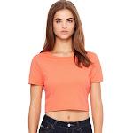 Bella + Canvas 6681 Ladies' Poly-Cotton Crop T-Shirt - Coral