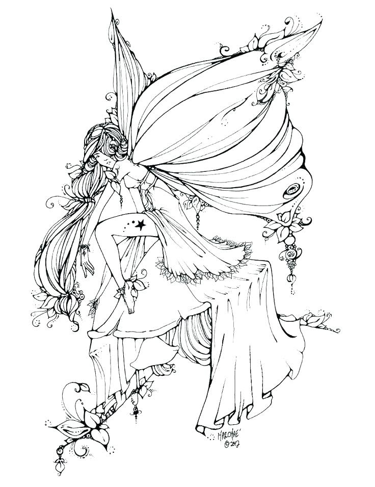 Gothic Fairy Coloring Pages For Adults at GetColorings.com ...