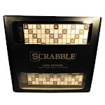 Scrabble Luxe Edition Crossword Game Adult Collectible
