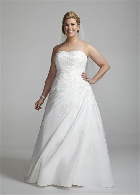 davids bridal  size sweetheart strapless fallie