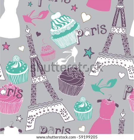 love in paris seamless pattern stock vector 59199205 shutterstock love in paris 450x469