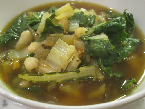 White Bean and Swiss Chard soup