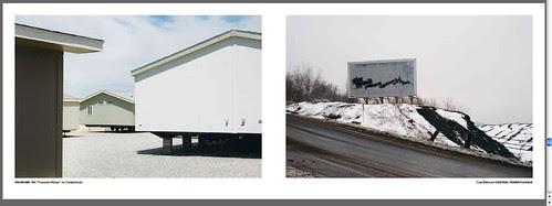 homes on cinderblocks coal billboard