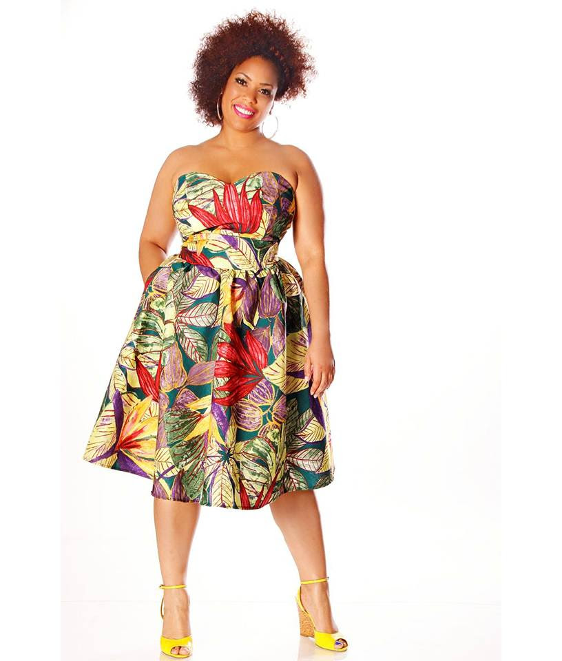 plus size designer jibri unveils a colorful and tropical