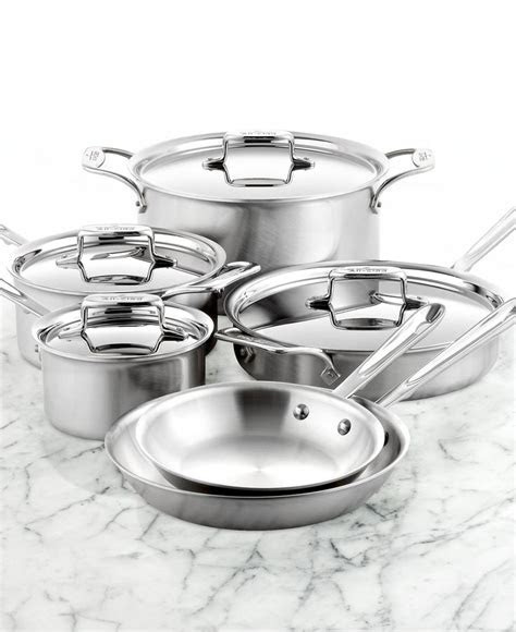 D5 Brushed Stainless Steel 10 Pc. Cookware Set   Wedding