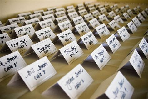 Wedding Escort / Place Card Ideas   At Your Side Planning