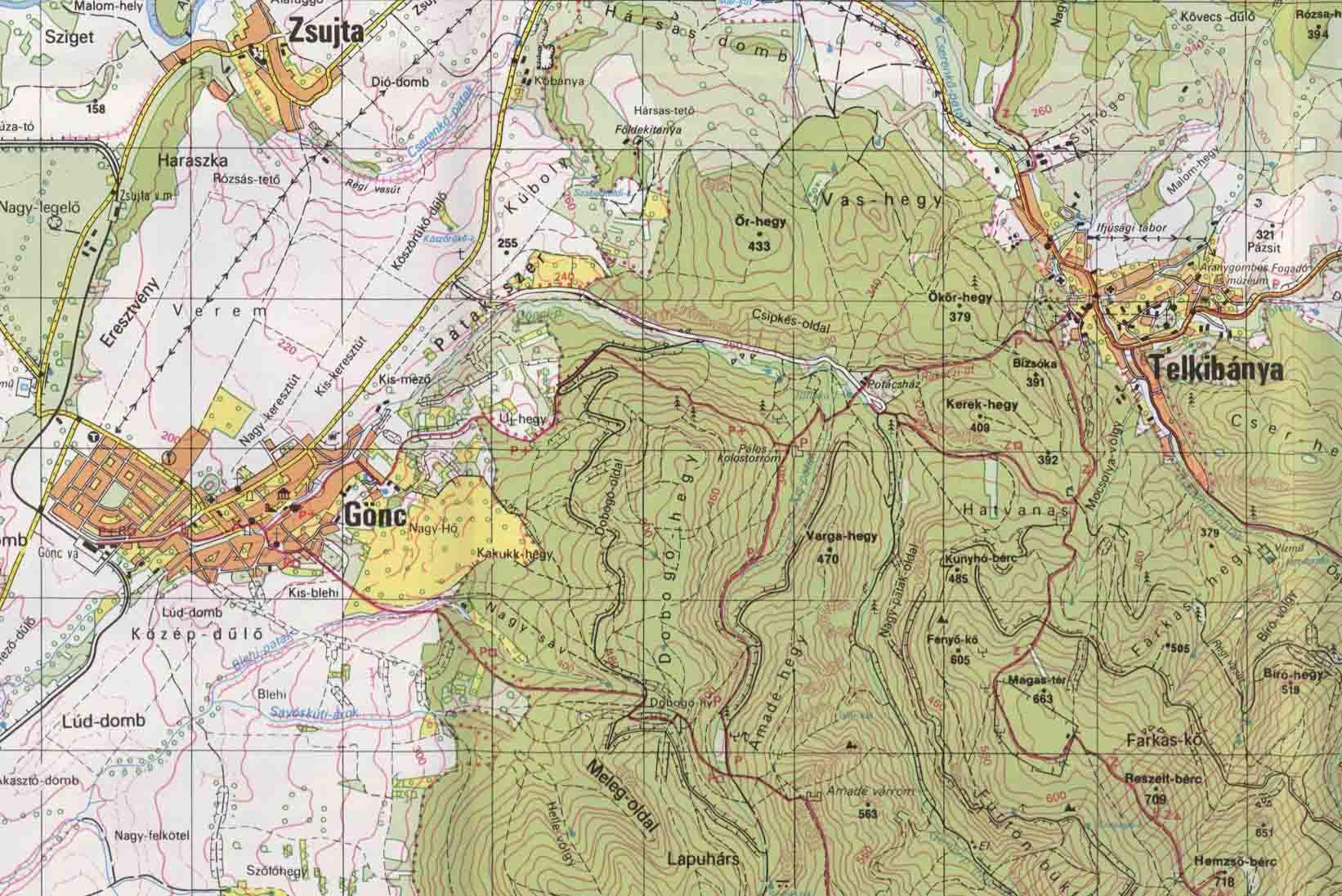 telkibánya és környéke térkép Telkibánya és Környéke Térkép | Térkép